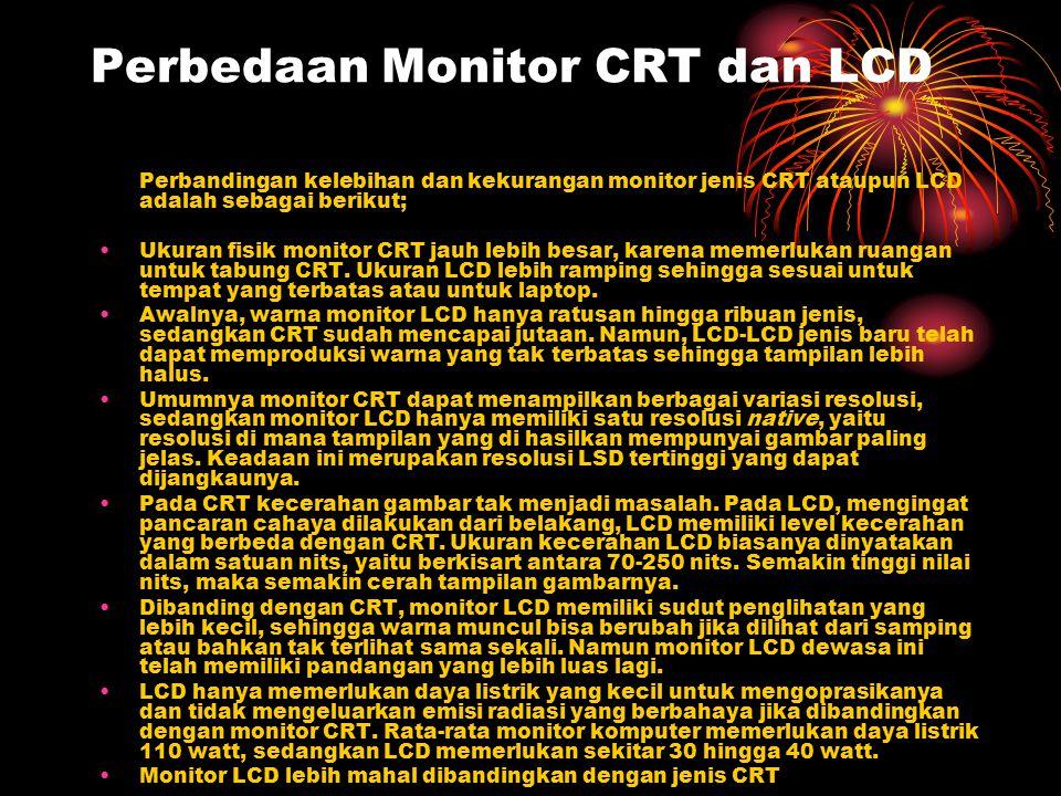 Perbedaan Monitor CRT dan LCD