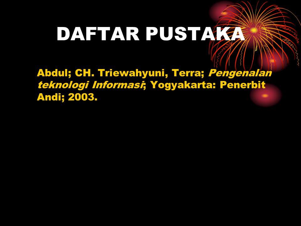 DAFTAR PUSTAKA Abdul; CH.
