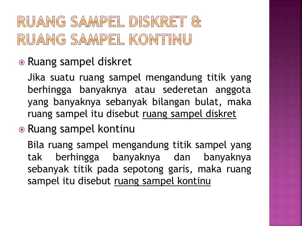 Ruang sampel diskret & Ruang sampel kontinu