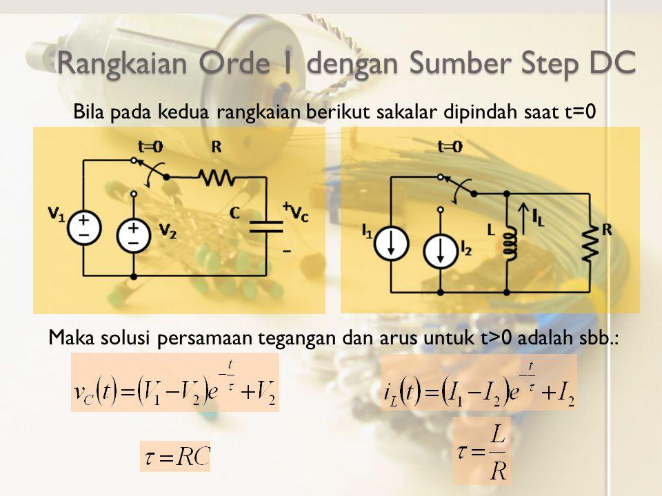 Rangkaian Orde 1 dengan Sumber Step DC