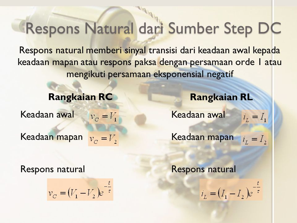Respons Natural dari Sumber Step DC