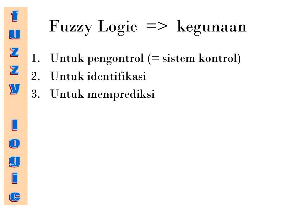 Fuzzy Logic => kegunaan