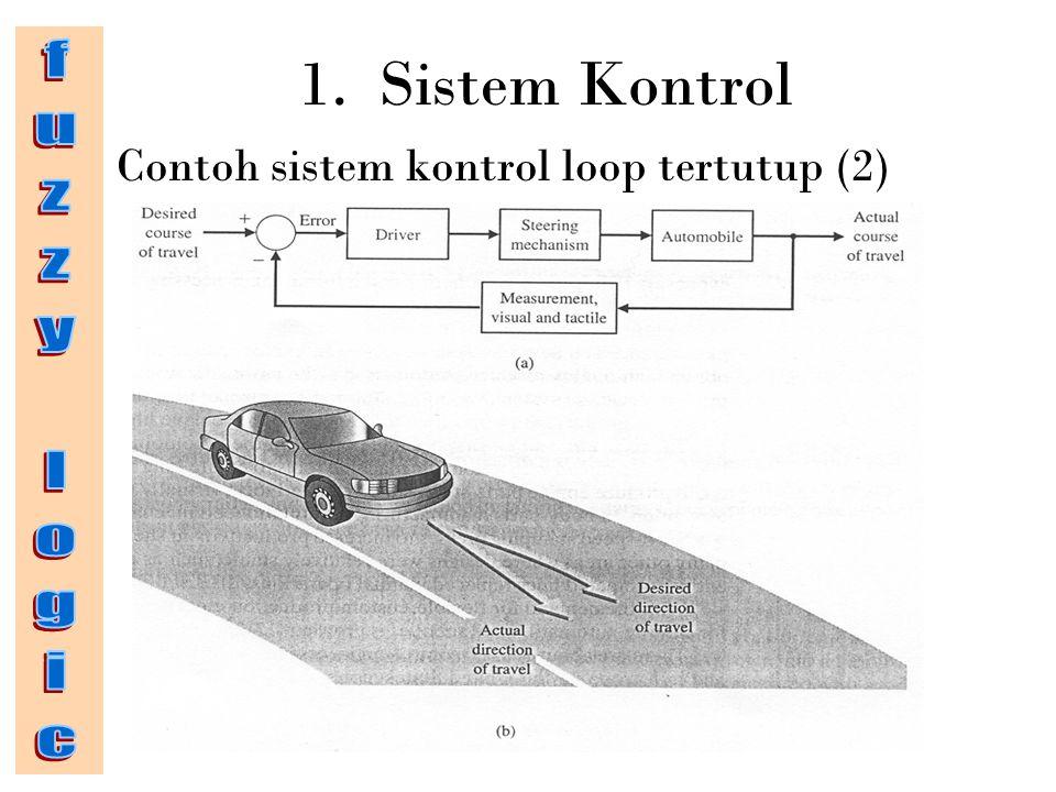 1. Sistem Kontrol fuzzy logic Contoh sistem kontrol loop tertutup (2)