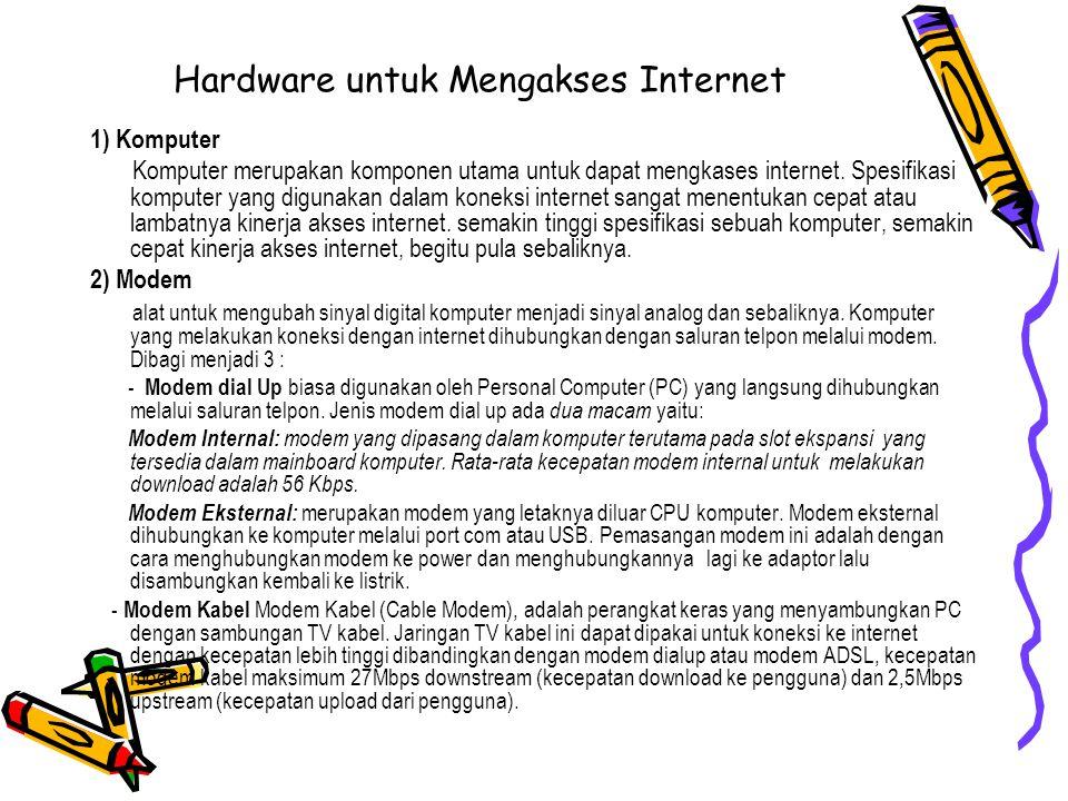 Hardware untuk Mengakses Internet