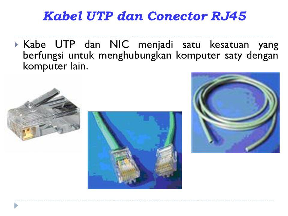 Kabel UTP dan Conector RJ45
