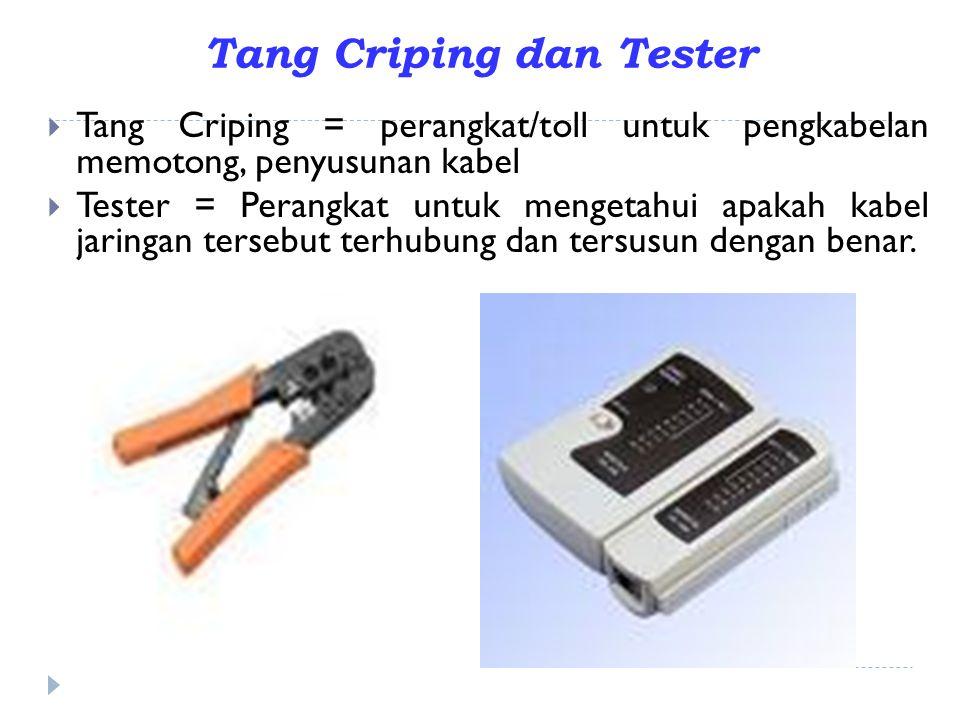 Tang Criping dan Tester