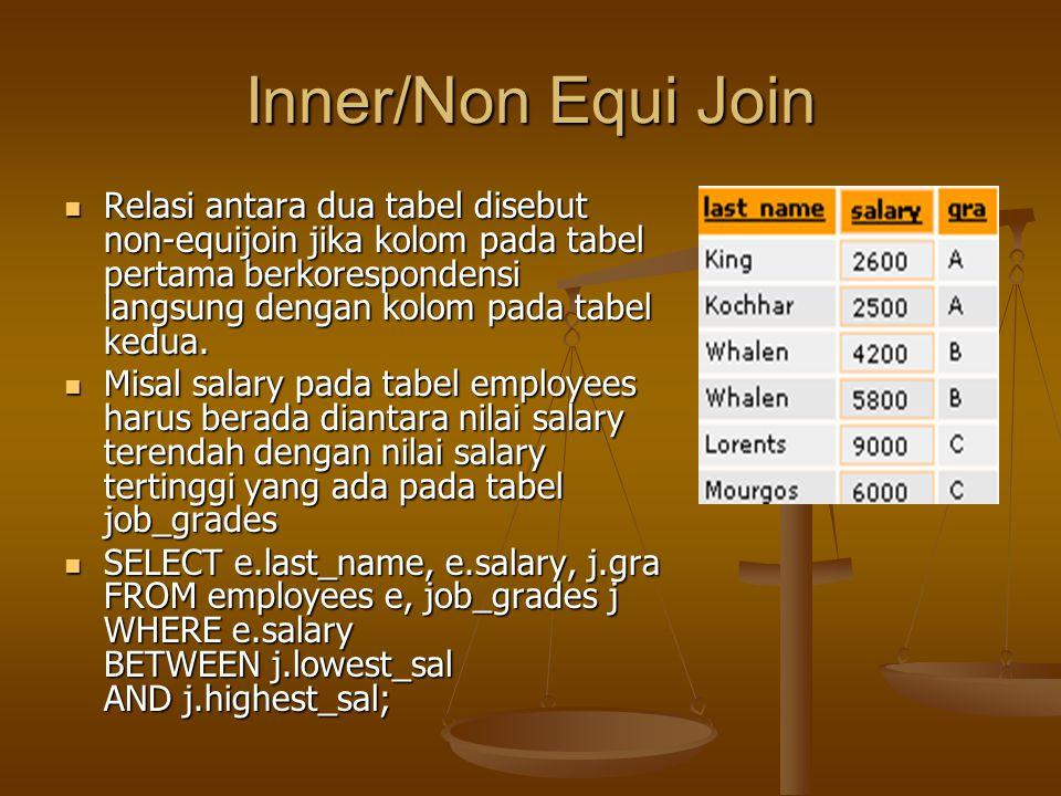 Inner/Non Equi Join
