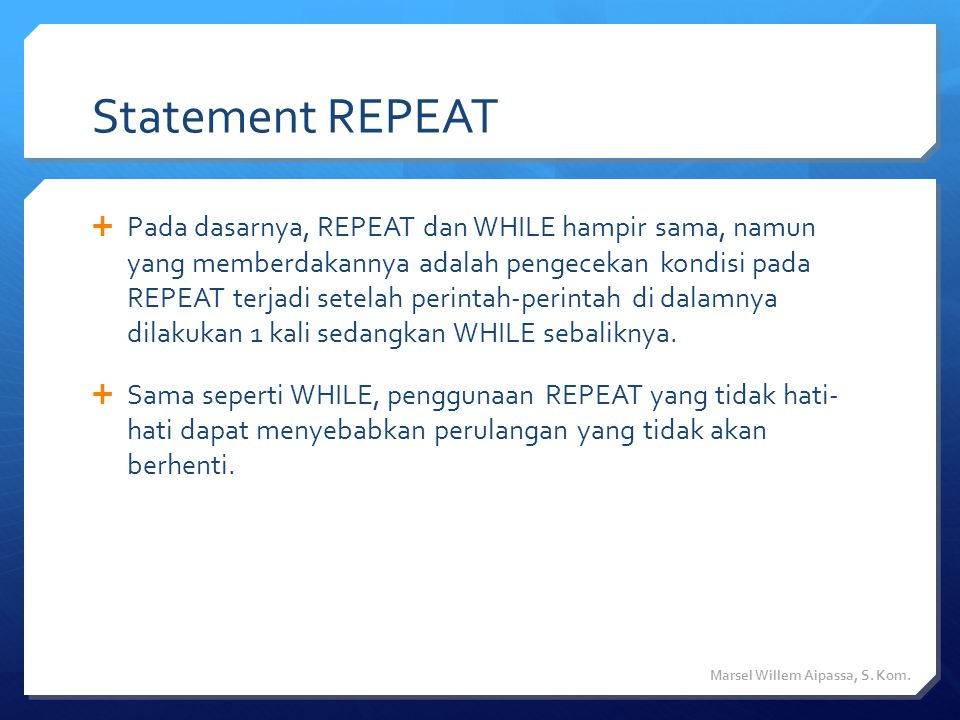 Statement REPEAT