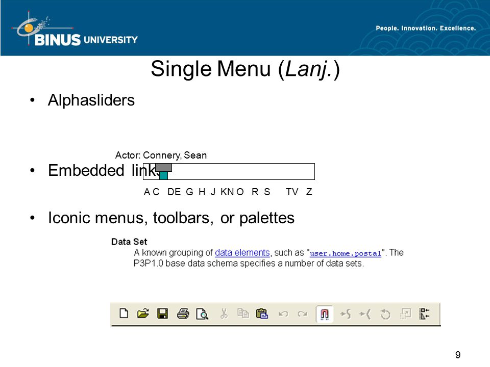 Single Menu (Lanj.) Alphasliders Embedded links