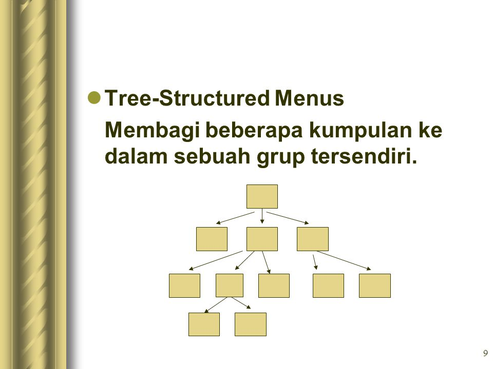 Tree-Structured Menus