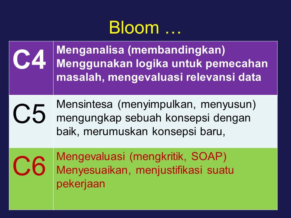 C4 C5 C6 Bloom … Menganalisa (membandingkan)