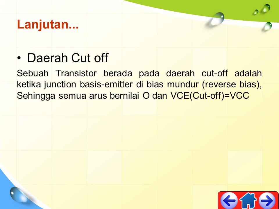 Lanjutan... Daerah Cut off