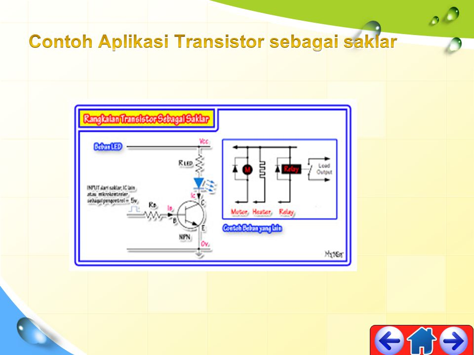 Contoh Aplikasi Transistor sebagai saklar