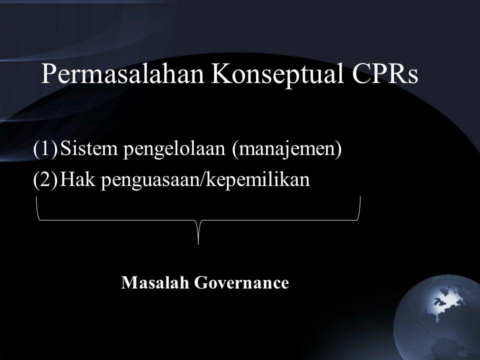 Permasalahan Konseptual CPRs