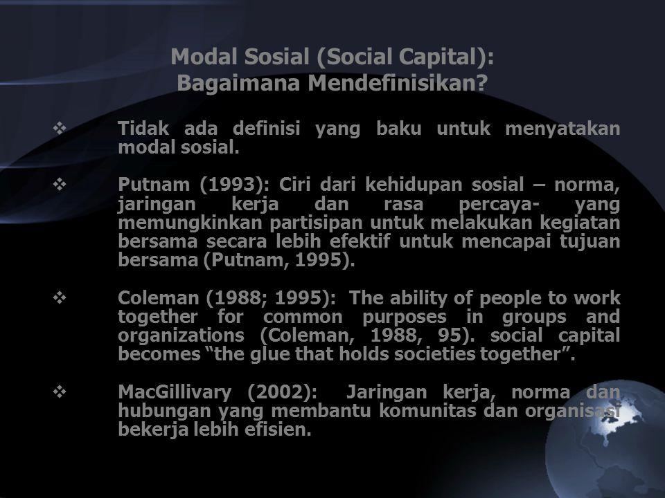 Modal Sosial (Social Capital): Bagaimana Mendefinisikan