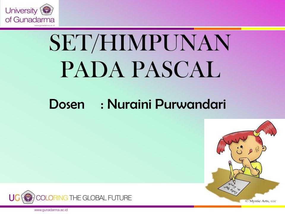 SET/HIMPUNAN PADA PASCAL