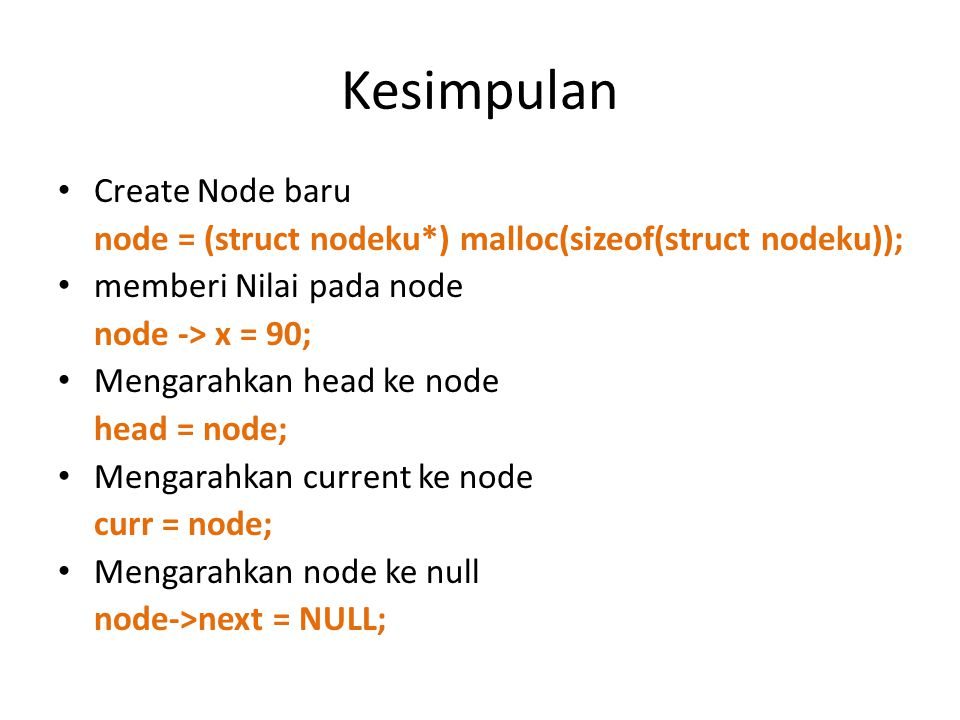 Kesimpulan Create Node baru