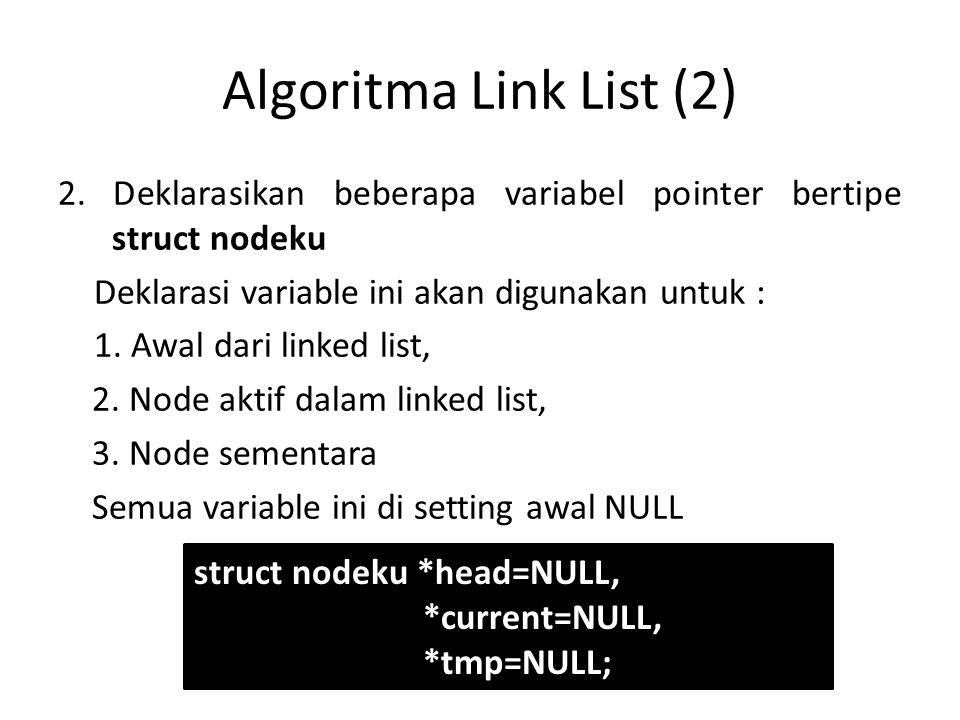 Algoritma Link List (2)