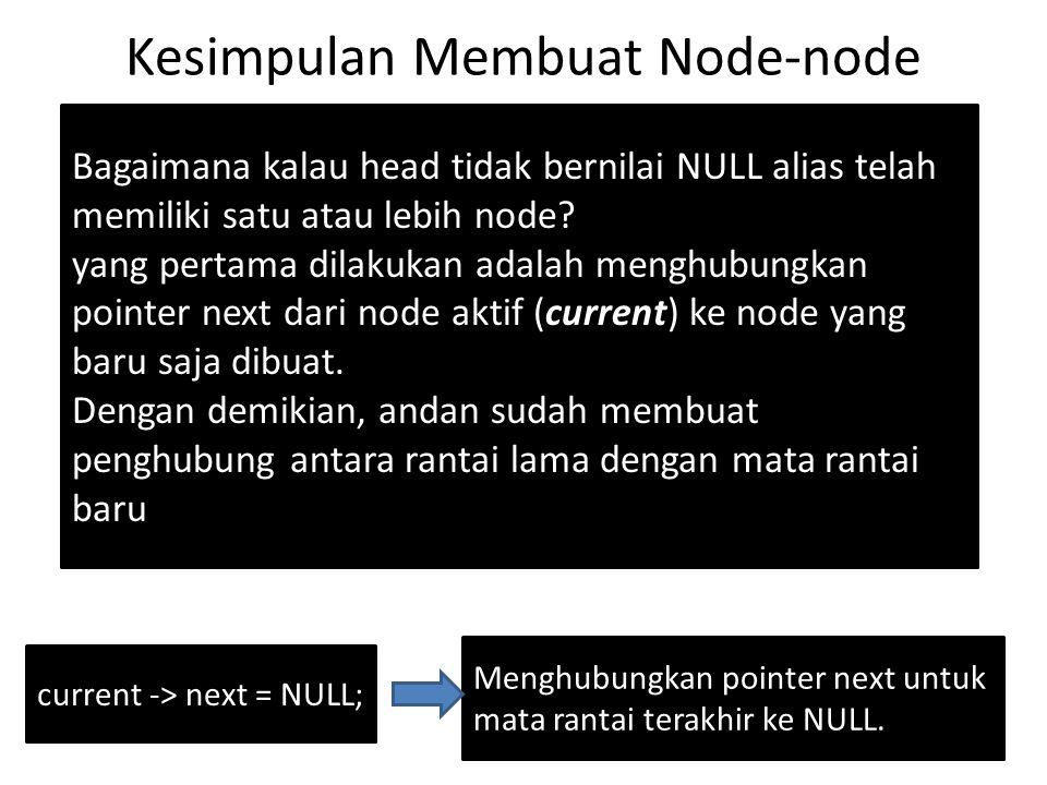 Kesimpulan Membuat Node-node