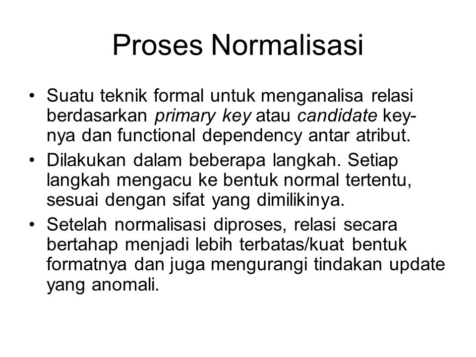 Proses Normalisasi