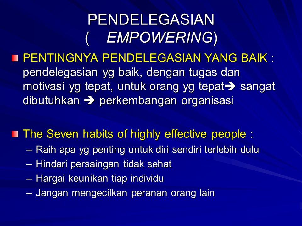 PENDELEGASIAN ( EMPOWERING)