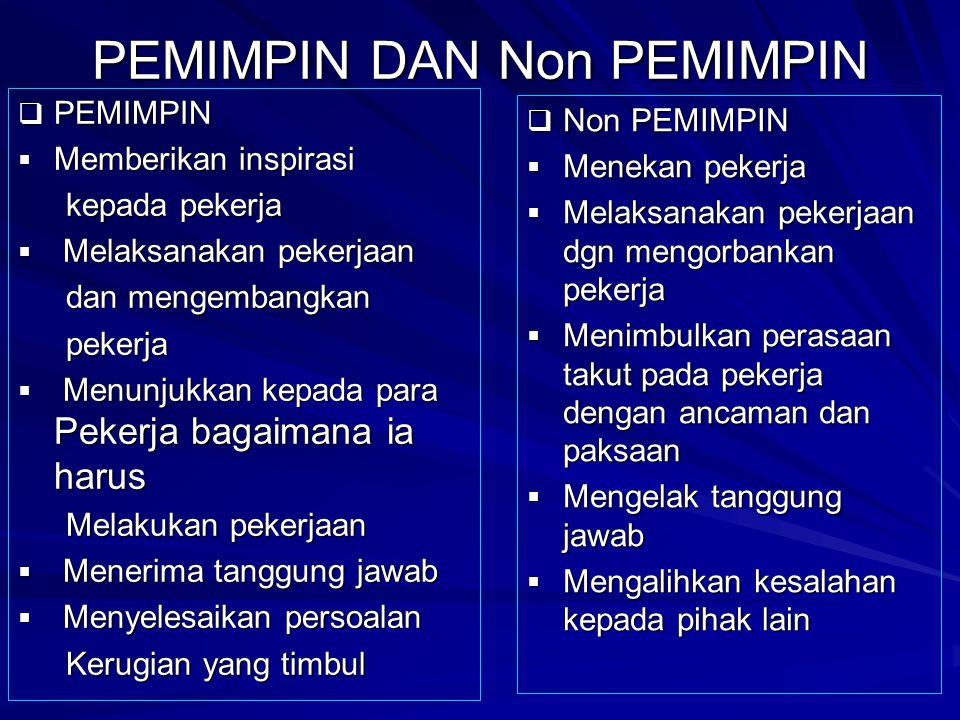 PEMIMPIN DAN Non PEMIMPIN