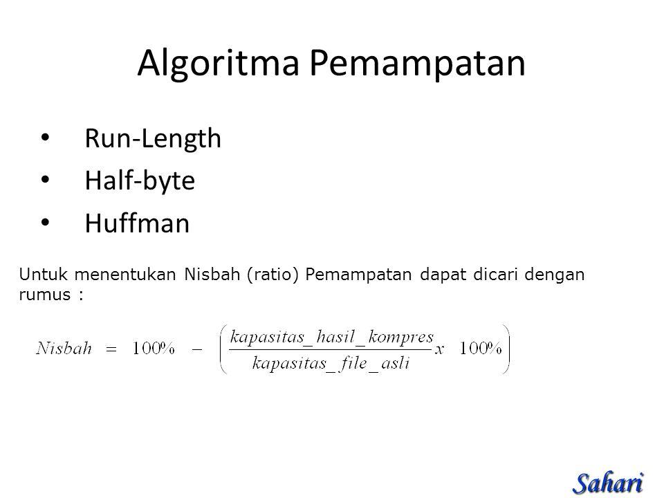 Algoritma Pemampatan Run-Length Half-byte Huffman Sahari