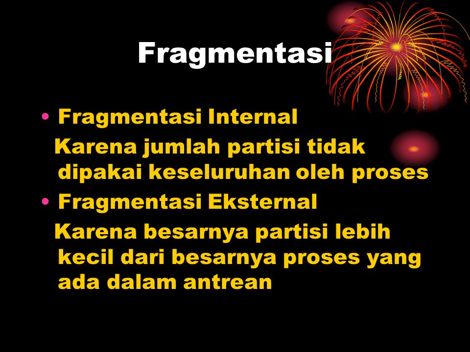 Fragmentasi Fragmentasi Internal