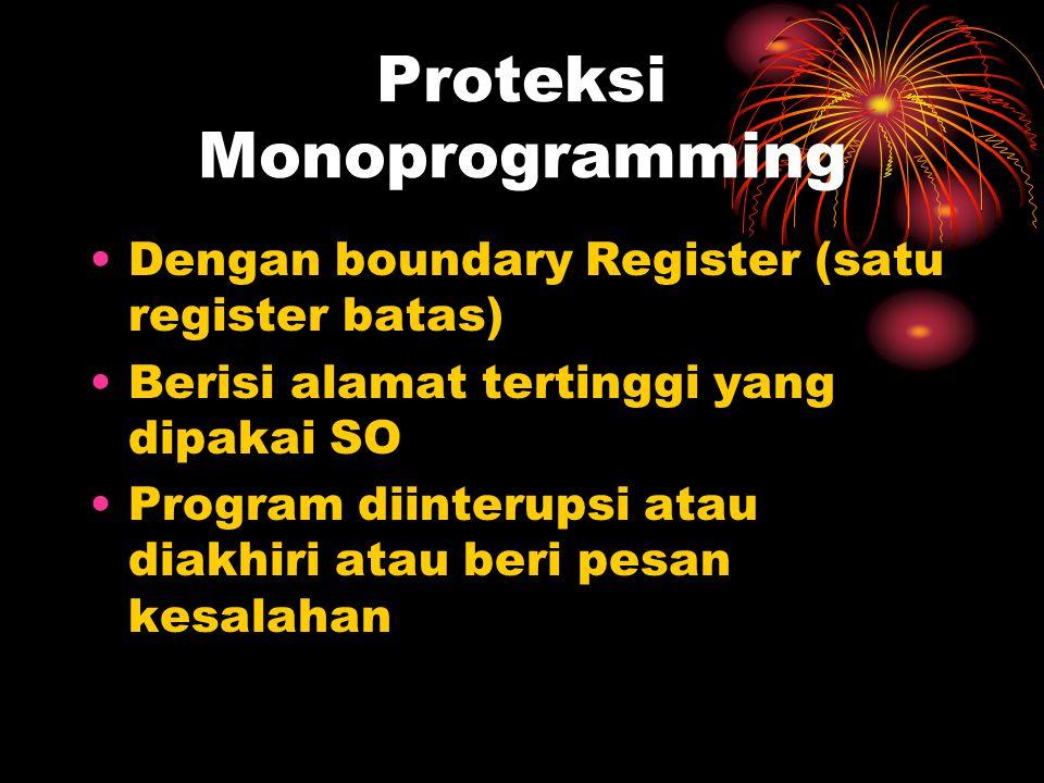 Proteksi Monoprogramming