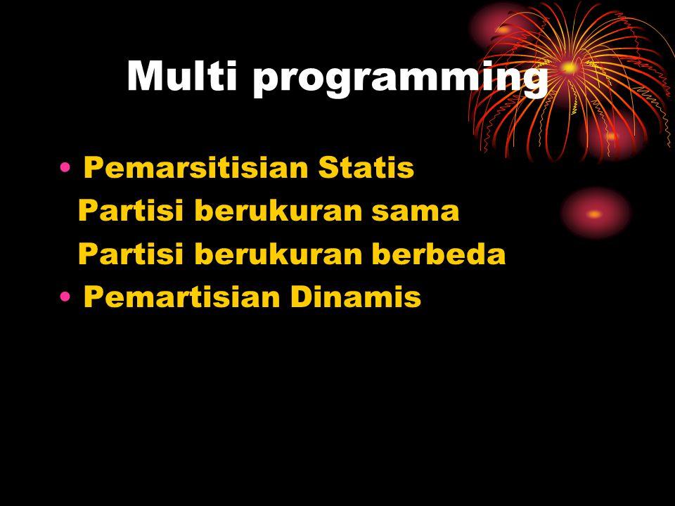 Multi programming Pemarsitisian Statis Partisi berukuran sama