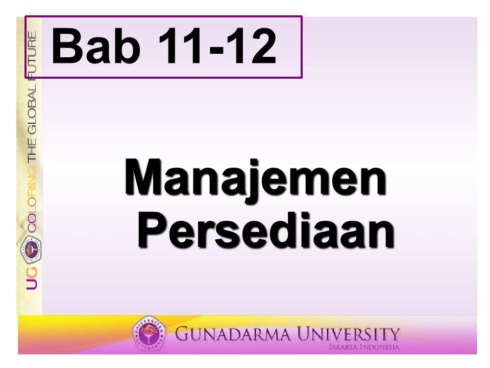 Bab 11-12 Manajemen Persediaan