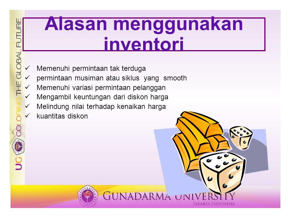 Alasan menggunakan inventori