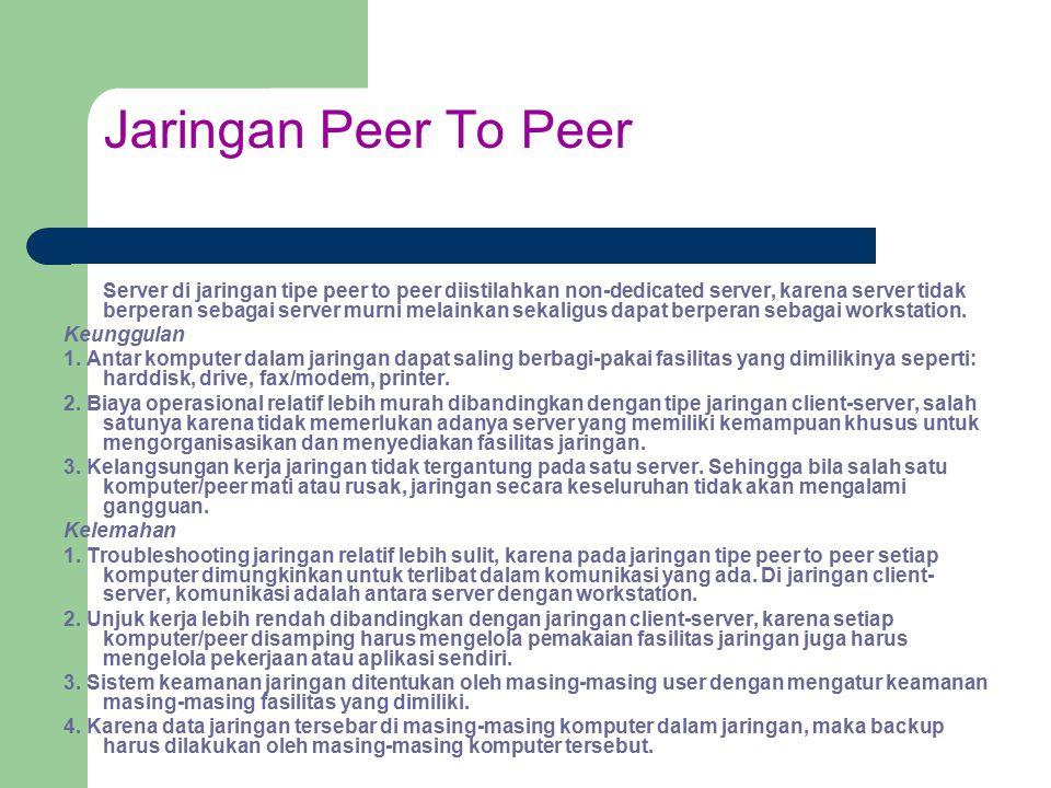 Jaringan Peer To Peer