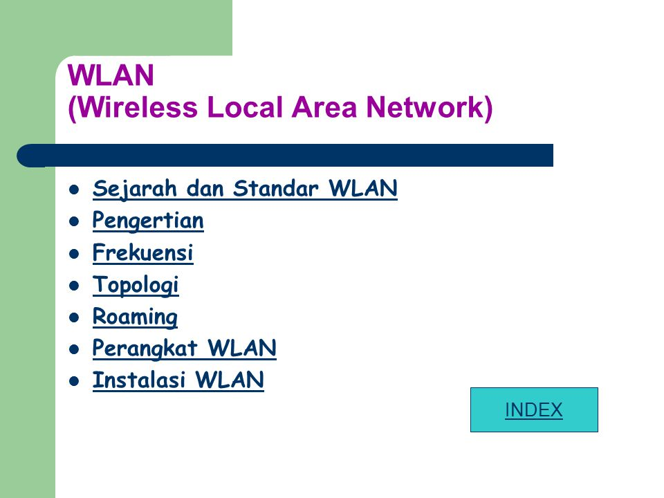 WLAN (Wireless Local Area Network)