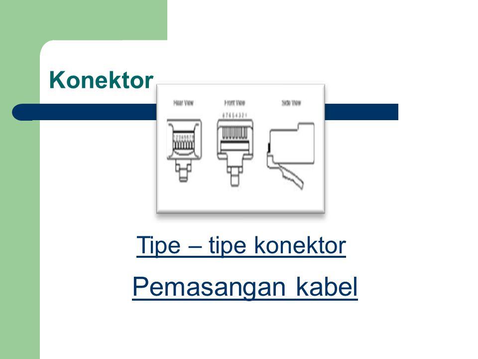 Konektor Tipe – tipe konektor Pemasangan kabel