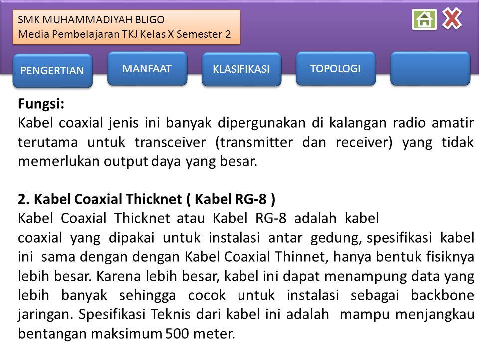 2. Kabel Coaxial Thicknet ( Kabel RG-8 )