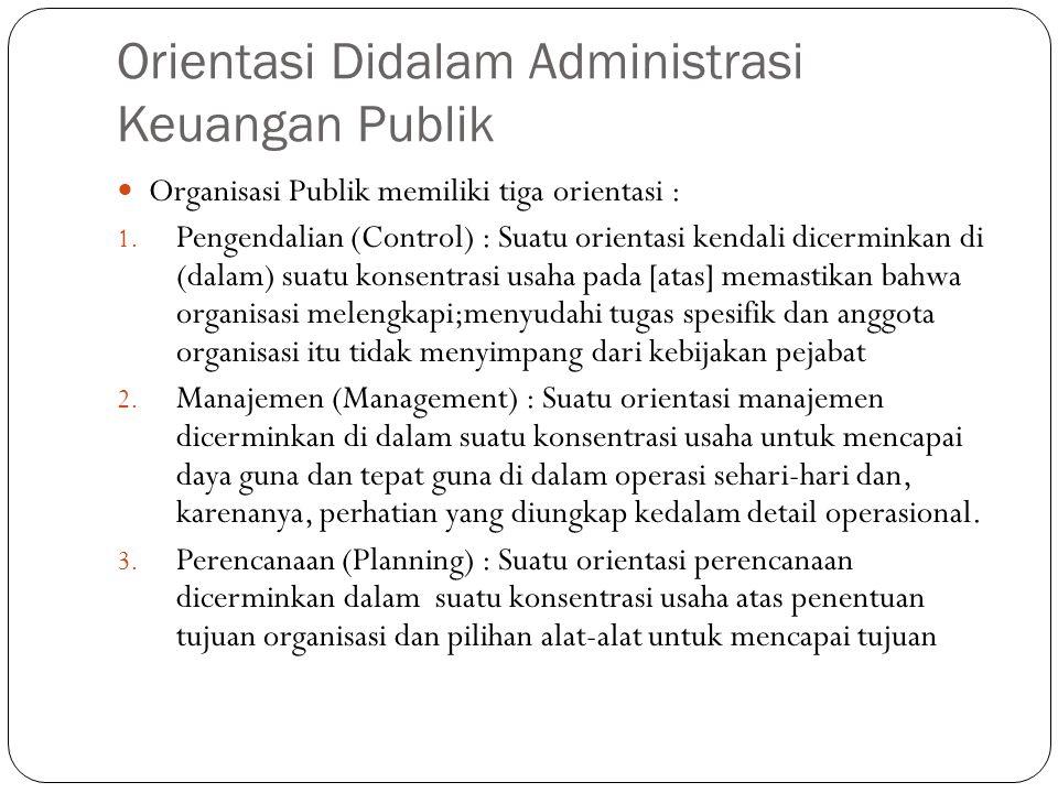 Orientasi Didalam Administrasi Keuangan Publik