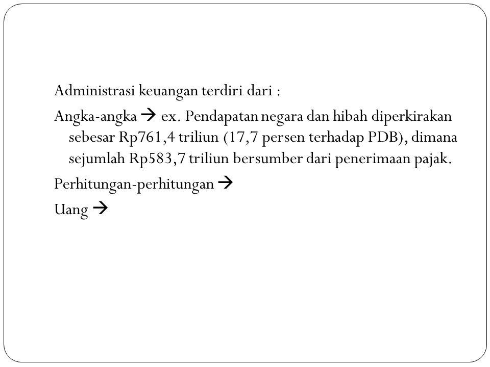 Administrasi keuangan terdiri dari : Angka-angka  ex