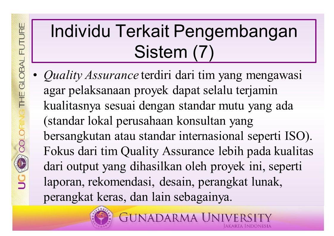 Individu Terkait Pengembangan Sistem (7)