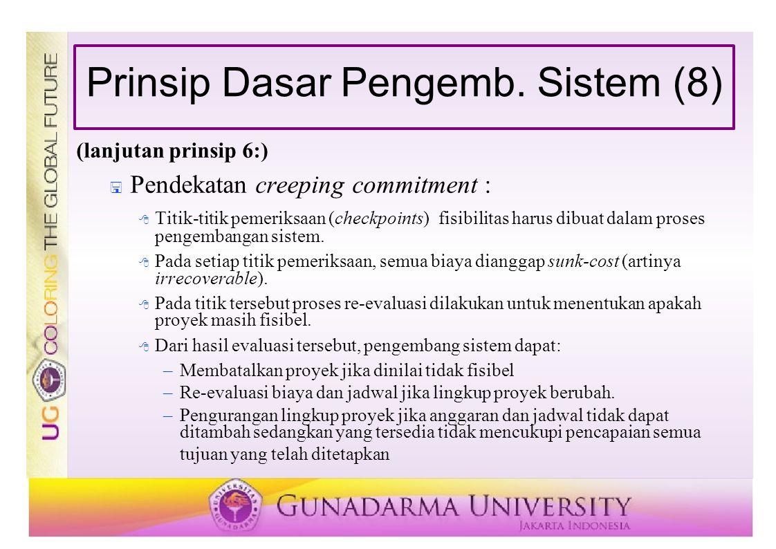 Prinsip Dasar Pengemb. Sistem (8)