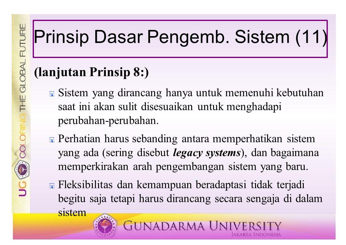 Prinsip Dasar Pengemb. Sistem (11)