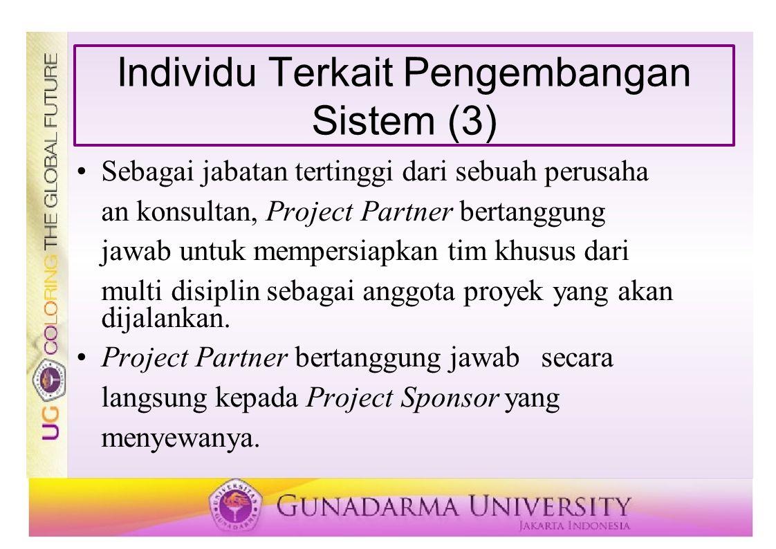 Individu Terkait Pengembangan Sistem (3)
