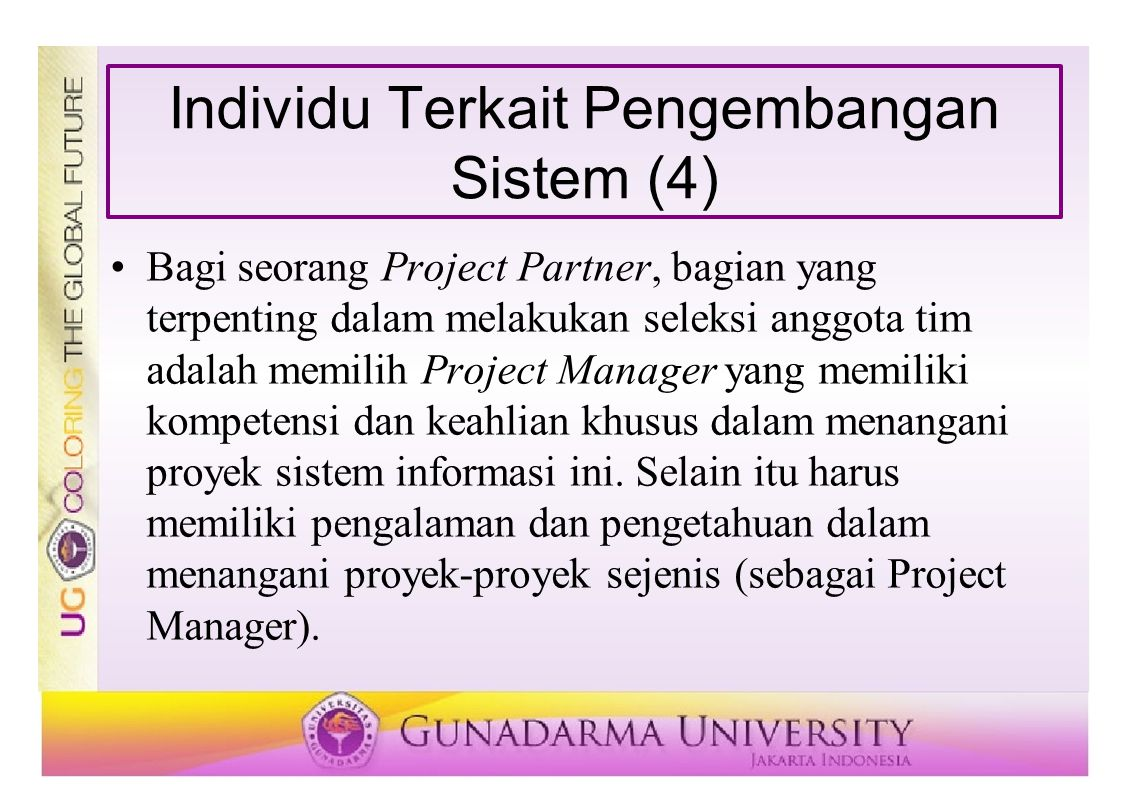 Individu Terkait Pengembangan Sistem (4)