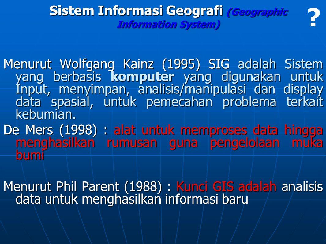 Sistem Informasi Geografi (Geographic Information System)