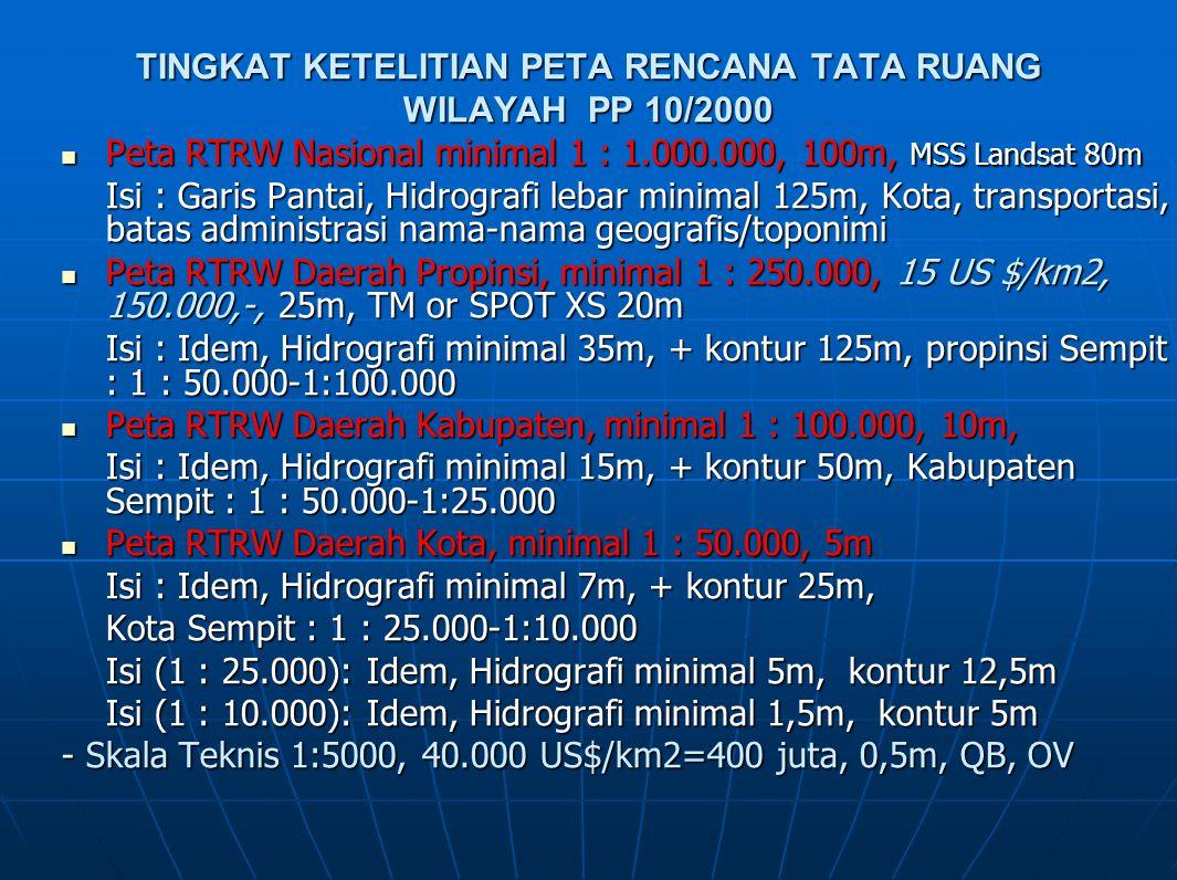 TINGKAT KETELITIAN PETA RENCANA TATA RUANG WILAYAH PP 10/2000