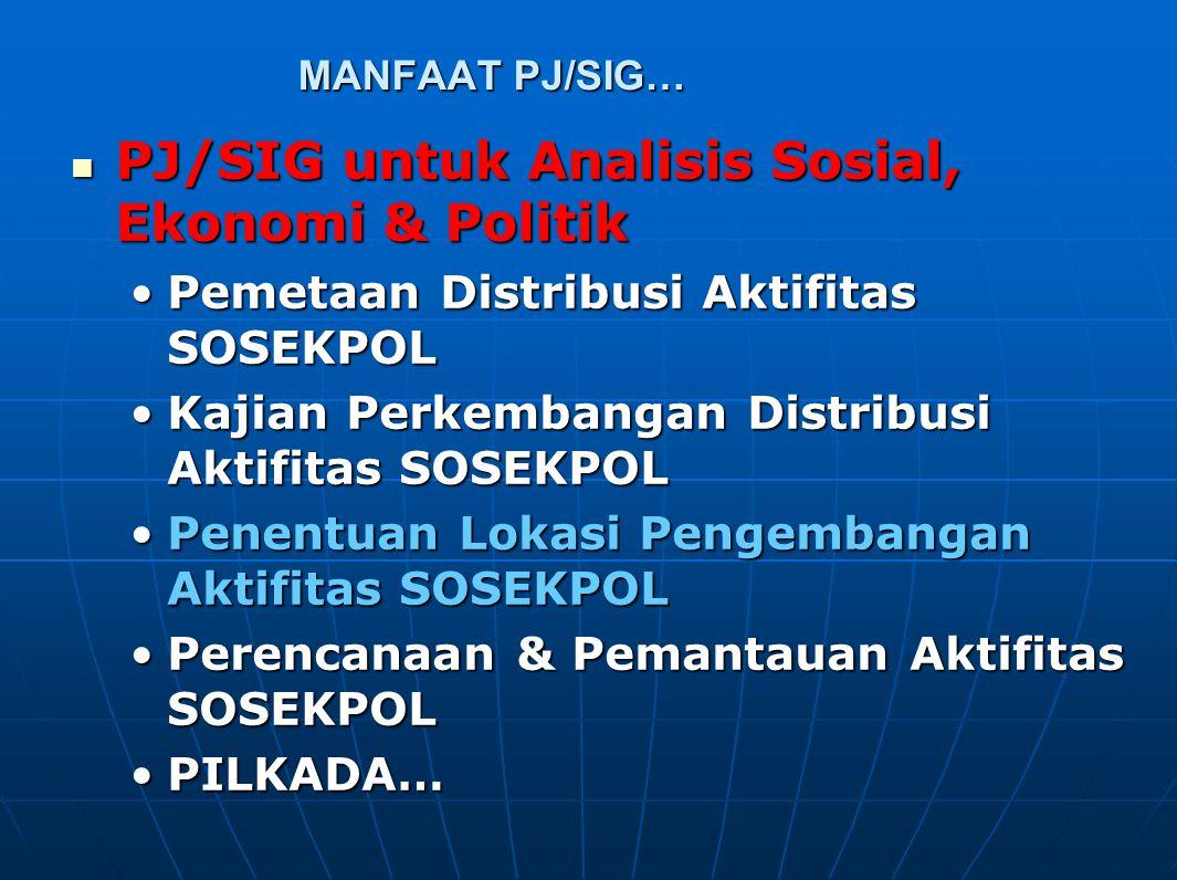 PJ/SIG untuk Analisis Sosial, Ekonomi & Politik