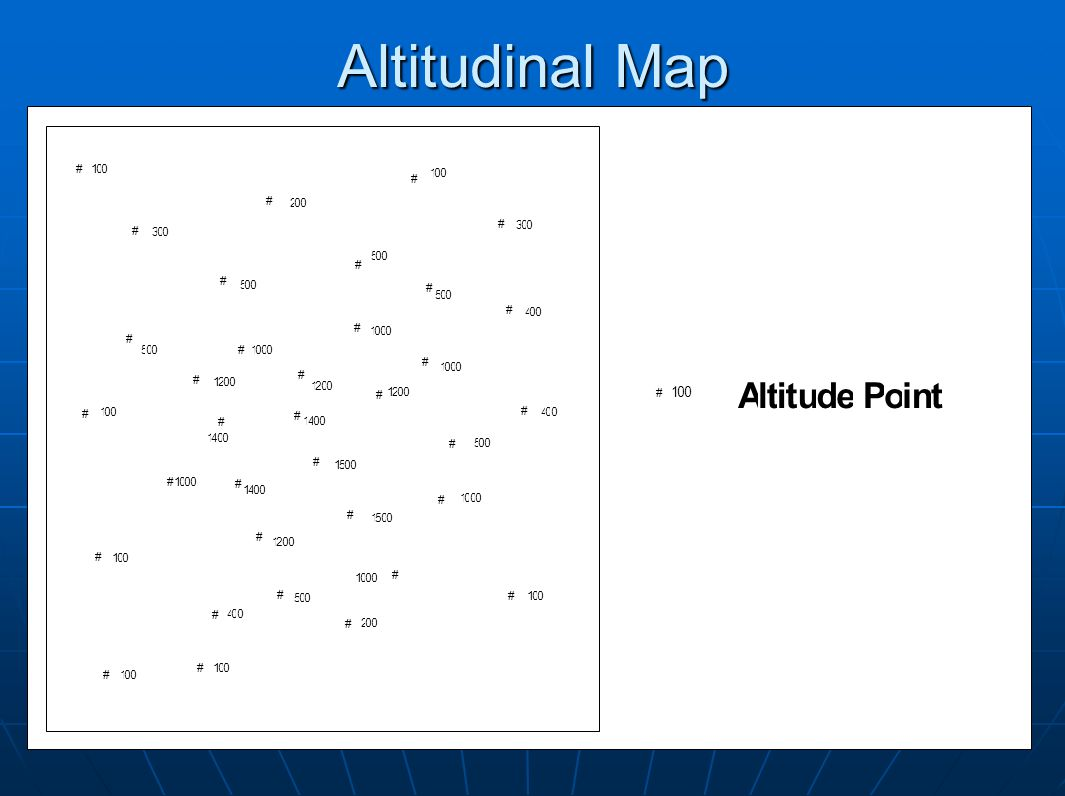 Altitudinal Map # 1 5 4 3 2 A l t i u d e P o n # 1