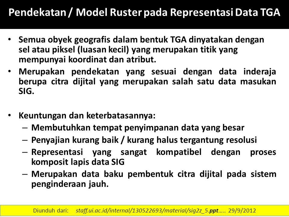 Pendekatan / Model Ruster pada Representasi Data TGA