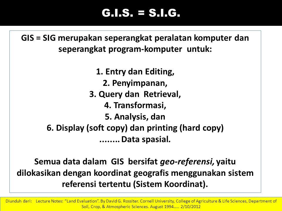 6. Display (soft copy) dan printing (hard copy)