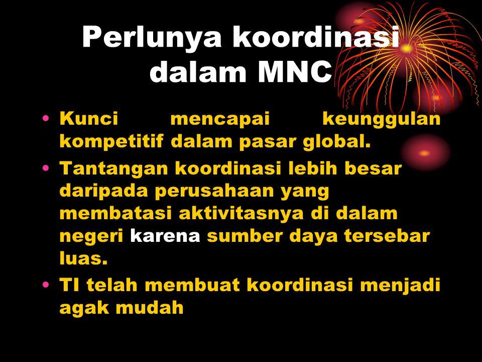Perlunya koordinasi dalam MNC